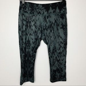 Z by ZELLA Gray and Black Cropped Leggings